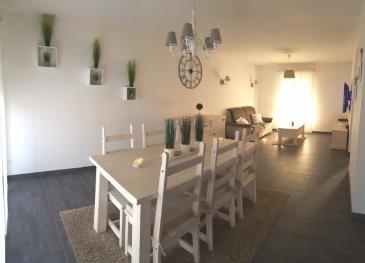 BOUSSE : dans lotissement calme maison neuve comprenant cuisine ouverte sur salon-séjour, 3 chambres, salle de bains   douche italienne, garage   buanderie, chauffage gaz sol, jardin avec jolie vue.