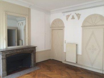 Appartement de caractère au coeur du centre-ville.  F2 de 65m² se composant d\'une entrée, d\'un séjour, d\'une cuisine, d\'une chambre, d\'une salle de bain et de WC séparés.  Chauffage individiuel au gaz.  Disponible au 30/12/2020