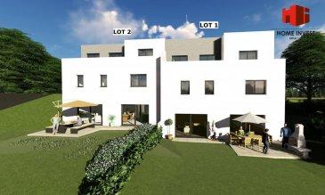 Belle maison jumelée de gauche de +/- 150 m2 (surface totale de +/-215 m2) Ecopass: BB sur un terrain (lot 1) de +/- 2,97 ares prochainement en construction comprenant au:  Sous-sol: hall, wc séparé, cuisine non équipée ouverte sur living/salle à manger de (+/- 45 m2) donnant sur une belle terrasse spacieuse (de +/- 16 m2), buanderie (de +/- 12 m2), cave (de +/- 10 m2), chaufferie;  Rdch: hall d'entrée (de +/- 10 m2), chambre à coucher parentale (de +/- 16 m2) avec dressing attenant (de +/- 9 m2) et salle de douche (de +/- 9 m2); garage pour 2 voitures;  1er étage: hall de nuit, 2 chambres à coucher (dont chacune +/- 18 m2) dont une avec accès à une belle terrasse (de +/- 18 m2), salle de bains (de +/- 8 m2), bureau (de +/- 10 m2);  Sur demande, il est possible d'adapter le projet selon vos envies.   Clemency, dans la commune de Kaerjeng, profite à la fois du calme de la région ainsi que toutes les commodités de la commune   Le prix affiché s'entend HTVA sur la part constructions à réaliser.  GARANTIE DÉCENNALE. Ref agence :HI-1686