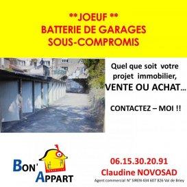 JOEUF : centre batterie de 12 Garages loués Rapport annuel : 5880 euros Contact Claudine au 0615302091 agent commercial N° siret : 434607826