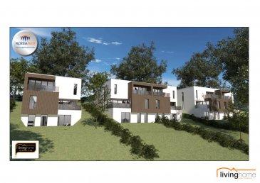 LIVINGHOME immobilier vous présente en collaboration avec l\'entreprise ROMABAU le futur projet de 5 maisons de haut standing, situé dans le village de Baschleiden. <br><br>La construction donne à chaque niveau une vue dégagée et panoramique sur la vallée. <br><br>Le LOT 1 comprend:<br>- surface terrain: 6,20 ares<br>- surface habitable net 200,65 m2<br>- surface totale : 241,34 m2<br><br>Prix de vente:<br>EUR 1.061.536 TTC 3% <br>(après acceptation de l\'Enregistrement)<br><br>Les projets sont planifiés selon les besoins de chaque client. <br><br>DESCRIPTION:<br><br>Rez-de chaussée: (45,33 m2)<br>- Entrée principale<br>- Hall d\'entrée avec WC séparé<br>- chambre à coucher I avec dressing et balcon<br>- salle de bain<br>- garage pour 2 voitures (32,55 m2)<br><br>Niveau -1: (76,27 m2)<br>- Hall avec WC séparé<br>- living / salle à manger / cuisine avec accès terrasse<br>- buanderie<br><br>Niveau -2: <br>Rez de Jardin: (79,05m2)<br>- Hall avec WC séparé<br>- chambre à coucher II avec accès terrasse<br>- chambre à coucher III avec accès terrasse<br>- salle de douche<br>- salle de cinéma<br>- local technique (9,14 m2)<br><br>- Jardin<br><br>ASPECTS TECHNIQUES:<br>- construction en blocs bisotherm<br>- toiture plate isolée <br>- châssis PVC triple vitrage avec volets roulants électriques<br>- chauffage: chauffage sol, pompe à chaleur air-eau<br><br>SITUATION GEOGRAPHIQUE:<br><br>BASCHLEIDEN se trouve en plein coeur du Parc naturel du Lac de la Haute Sûre, une région qui par sa beauté de ses paysages propose une multitudes d\'attractions sportives pendant la saison estivale, comme p.ex. la baignade, la pêche, la voile, la plongée, le canotage ou bien encore de magnifiques randonnées pédestres, à cheval ou VTT. <br>Proche de toutes commodités, école régionale de Harlange, Lycée technique du Nord Wiltz, crèches, maison relais, restaurants, banques, centre commercial, business center... <br>Les transports en commun sont assurés. <br><br>DISTANCES:  <br>Wiltz 15 minutes<br>B