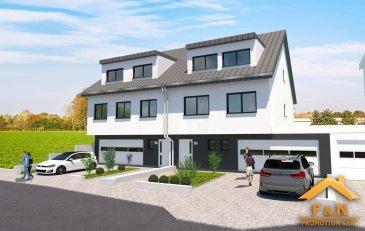 F&N Promotion präsentiert Ihnen hier ein modernes Einfamilienhaus ins Hunsdorf, mit einer Gesamtfläche von +/-270 m2 (Energieeffizienz- und Wärmeschutzklasse A/A).   Das Haus ist nur zwei Minuten vom Lorentzweiler Zentrum entfernt, in der alle Annehmlichkeiten zu finden sind.  Es setzt sich folgend zusammen: Im Erdgeschoss: - Eingangshalle (16.15m2) - Buanderie (5.57m2) - zwei Kellerräume (4.45m2 + 16.90m2) - Heizungsraum (12.56m2) - Garage mit Platz für 3 Autos (48.29m2), vor der Garage können ebenfalls zwei Autos geparkt werden  Auf dem 1. Stockwerk finden Sie  - den Gang (5.26m2) - ein geräumiges, gut belichtetes Wohnzimmer (51.15m2) mit offener Küche, mit Blick und Zugang zur Terrasse (22.50m2) und dem Garten (+/-150m2), - separates WC (2.49m2) - Büroraum (9.93m2) - Schlafzimmer (12.76m2)  Auf dem 2. Stockwerk: - Gang (5.41m2) - zwei Schlafzimmer mit Dressing (jeweils 19.68m2 und 21.85m2) - ein Schlafzimmer (13.63m2) - ein Badezimmer (13.39m2)  Der Preis ist mit 3% MwSt. angegeben.  Bei Fragen, für die Pläne, oder sonstigen Informationen, zögern Sie bitte nicht uns zu kontaktieren.  Tel.: +352 621 13 99 88  E-Mail: info@fn-promotion.lu Referenz: LW-RDP15  --------------------------------------------------  F&N Promotion vous présente ici une maison individuelle moderne située à Hunsdorf, d'une surface totale de +/- 270 m2 (passeport énergétique A/A).  La maison est à seulement deux minutes du centre de Lorentzweiler, proche de toutes commodités.  Elle est composée comme suit: au rez de chaussée: - hall d'entrée (16.15m2) - buanderie (5.57m2) - deux caves (4.45m2 + 16.90m2) - chaufferie (12.56m2) - garage pour 3 voitures (48.29m2), devant le garage, deux voitures peuvent être garées  au 1er étage: - le couloir (5.26m2) - un salon spacieux et lumineux (51.15m2) avec cuisine ouverte, avec vue et accès à la terrasse (22.50m2) et au jardin (+/- 150m2), - toilettes séparées (2,49 m2) - espace de bureau (9.93m2) - chambre à coucher (12.76m2)  au 2ème étage: - couloir (