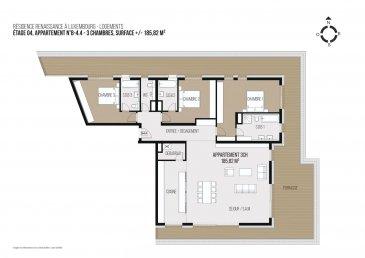 LE PRIX AFFICHE = 3% TVA INCLUS <br>INCLUS EMPLACEMENT PARKING<br>POUR INVESTISSEURS PRIX 17% = 3.424.080.-<br>INCLUS EMPLACEMENT PARKING<br><br>Le PROJET RENAISSANCE <br>vous propose des appartements de haut standing dans une situation exceptionnelle à deux pas du centre Ville de Luxembourg, proche de toutes les<br>commodités ainsi que des accès autoroutes, desservi par tous les réseaux de transport en commun, notamment du futur tracé ouest du tram.<br>Le PROJET RENAISSANCE se compose de deux immeubles individuels reliés par un double sous-sol<br>commun proposant 132 appartements. <br>pour tous les types d\'acquéreur<br>allant du STUDIO au PENTHOUSE <br>incluant des caves et emplacements.<br>Un des points fort du PROJET RENAISSANCE est certainement sa conception de type SMARTBUILDING. <br>qui vous offre entre autres un système de domotique intelligent ainsi qu-un  système de « Packstation » connecté notifiant de l\'arrivée de vos colis et vous permettant d\'en déposer pour envoi.<br>Dans le cadre du PAP, en coordination avec le service des parcs de la Ville, un concept paysager pour le site a été élaboré.,qui intègrede de façon harmonieuse l\'ensemble résidentiel dans son environnement naturel.