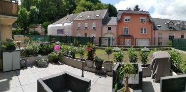Sublime appartement à Soleuvre avec Terrasse et jardin +- 50m2  :  - Hall d'entrée - Cuisine équipée open space avec salon living et sortie terrasse  - 2 chambres  - Salle de bains - Wc  - Terrasse et le jardin +- 50m2   - 1 Cave - 1 Garage   Situation très calme et agréable a vivre.  Nous vous invitons à nous rendre visite ou contacter l'un de nos commerciaux pour plus d'informations.  M. Moura Jemp +352621216646  M. Marc Risch +352621210333   Les surfaces et superficies sont indicatives  Rejoignez-nous sur Facebook : Newjomar Belval