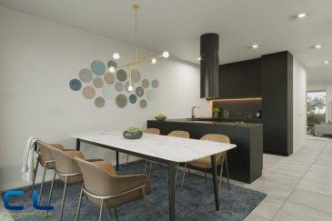 Nous vous proposons à la vente dans le nouveau projet  immobilier de standing « Place Benelux » : Une maison de 148m2 dont 135,44m2 habitables.  Au sous-sol : - Un box fermé avec accès privatif - une cave Au rez-de-chaussée : - Des jardins privatifs - Une grande terrasse avec un accès au jardin - Un WC séparé - Une cuisine ouverte - Un grand living  Au premier étage : - Deux chambres à coucher - Deux salles de bain  Au deuxième étage : - Une chambre à coucher - Une salle de bain - Une terrasse de +/- 5 m2   Ce nouveau projet  à l\'architecture contemporaine est constitué de 5 maisons en bande, d\'une résidence de 6 appartements et d\'un local commercial.  Il est idéalement situé à la Place Benelux, dans le quartier résidentiel d\'Esch nord, quartier calme et accueillant, qui possède encore de petits magasins de proximité, d\'autres infrastructures (telles que piscine, école, crèches, hôpital \') ou services (poste, banques etc), se trouvent aussi dans ce quartier. Les transports en commun ainsi que l\'autoroute A 4 se trouvent à quelques mètres.  A 5 minutes en voiture du site Belval.  Les prix indiqués comprennent la TVA à hauteur de 3%, il y a la possibilité d\'acheter en supplément des emplacements de parking intérieurs.  N\'hésitez pas à nous contacter pour de plus amples renseignements, les plans et cahier de charges sont à votre disposition sur  simple demande.  Commission d\'agence comprise dans le prix à la charge du vendeur.   Ref agence : EACVB69-79-M3