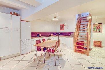 Youssef TOURMINE, RE/MAX Partners, spécialiste de l\'immobilier à Luxembourg, vous propose ce spacieux duplex situé en plein cœur du quartier de Pfaffenthal, dans un cadre calme et privilégié.<br><br>Au troisième étage d\'un immeuble au caractère historique et offrant de très belles vues sur ce quartier mêlant urbain et verdure, ce duplex a été entièrement rénové en 2006. Avec ses 104 m² de surface utile, de beaux espaces s\'offrent à vous.<br><br>Il se compose au premier niveau : d\'un vaste living d\'environ 42m² avec une cuisine équipée ouverte sur la salle à manger et le salon, de 2 chambres à coucher (environ 13m² et 14m²) et d\'une salle de bain avec baignoire et WC.<br><br>Au deuxième niveau : vous trouverez un grand espace de 32m² sous comble pouvant faire office de chambre, bureau ou pièce de loisirs ; le tout avec un grand dressing et plusieurs espaces de rangement.<br><br>Au rez-de-chaussée, une buanderie commune est à disposition, ainsi qu\'un local pour vélos ou poussettes. Une cave privative est également disponible au sous-sol. Toutes les parties communes sont bien entretenues. <br><br>Autres caractéristiques : Situation idéale au sein de Luxembourg-ville, à quelques mètres de l\'ascenseur du Pfaffenthal. Proche des commerces, écoles et parcs. Parfaitement situé pour l\'accès au Boulevard Royal et au Kirchberg, que ce soit en voiture ou en transport en commun.<br><br>Devis pour transformation en cours de réalisation.<br><br>Disponibilité immédiate.<br><br>Objet rare - A visiter sans tarder !<br><br>Contact: Youssef TOURMINE au +352 621 157 543 ou youssef.tourmine@remax.lu<br><br />Ref agence :5095737