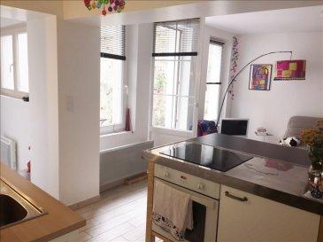 APPARTEMENT SAUMUR - 4 pièce(s) - 91.24 m2. SAUMUR ET COMMUNES ASS~Exceptionnel ! Hyper centre de Saumur, vous serez charmés par cet appartement en duplex (rez de chaussée et 1er étage) avec une grande  terrasse privative.  Ce logement d'un peu plus de 90 m² vous offre : une entrée, une cuisine aménagée avec coin repas et salon, un séjour (ou chambre), au premier étage : une chambre, une salle d'eau avec wc~Cave, grenier, peu de charges de copropriété. dont 5.83 % honoraires TTC à la charge de l'acquéreur.
