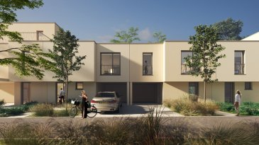 Property Invest vous propose un nouveau projet de construction « Domaine des Roses » de 2x5 maisons en bande situées dans une rue au calme « An de Burfelder » à Bereldang, 7km de Luxembourg-Centre qui s\'inscrit dans le cadre de modernité se traduisant par une offre de commodités de haut standing.<br><br>La maison Lot 04 est composée comme suit : <br><br>Au rez-de-chaussée :<br>- un hall d\'entrée <br>- un wc séparé<br>- une cuisine ouverte sur le séjour/salle à manger <br>  avec accès à la terrasse et au jardin<br>- un local technique<br>- une buanderie<br>- un carport<br><br>A l\'étage :<br>- un hall de nuit<br>- 3 belles chambres à coucher dont une avec salle de <br>  douche<br>- une salle de douche<br><br>Cette belle maison unifamiliale jumelée en future construction à basse énergie (AB) située sur un terrain de 2,28 ares est dotée d\'une architecture moderne et d\'une surface nette de 147 m2. <br><br>Les maisons ont été conçues pour vous garantir un confort optimal et des espaces de vie de qualité : douche italienne, triple vitrage, chauffage au sol, stores électriques, isolations thermiques, revêtements et finitions de qualité.<br><br>CLASSE ENERGETIQUE A/B<br><br>Le prix indiqué comprend la TVA à 3% (sous réserve d\'acceptation par l\'administration de l\'enregistrement).<br><br>Le projet Domaine des Roses :<br>Un véritable îlot de tranquillité, proposé par Investe Promotions, met à votre disposition un vaste panel de logements aux finitions de qualité et prestations haut de gamme. <br><br>Design et confort :<br>Chaque logement est finalisé avec le plus grand soin. Seuls les matériaux et aménagements les plus nobles sont retenus comme le parquet, la menuiserie, la porte coulissante, la douche à l\'italienne et bien d\'autres.<br>Les maisons aux architectures modernes bénéficient également de grands espaces, telle qu\'une large terrasse vous laissant profiter pleinement du paysage.<br><br>Domaine des Roses :<br>Dessinées par le bureau Wagener et Cotza Archi- t