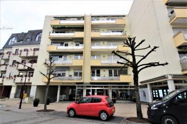 Efapromo vous propose un très jolie appartement à quelques pas à pied du centre thermal et du centre ville de Mondorf les Bains.<br>Localisation idéal pour les connaisseurs, pratique et au calme.<br>Convient à une personne à mobilité réduite.<br>4ème étage avec ascenseur<br>il se compose comme suite:<br><br>hall d\'entrée<br>couloir<br>1 chambre<br>wc séparé<br>salle de bain<br>pièce de vie très lumineuse et spacieuse .<br>cuisine séparé<br>1 grande cave<br>54m2 <br><br>En cours de rénovation , cet appartement sera comme neuf dans quelques semaines.<br><br><br>pas d\'emplacement véhicule mais facilité de stationnement.<br><br>L\'appartement  sera disponible à partir du 1er juin 2021<br><br>pour une visite ou des informations, contactez :<br><br>Emmanuel 691355050<br>manuefapromo@gmail.com<br><br><br><br><br>