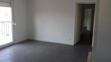 Spacieux appartement rénové, au centre de Jarny, comprenant: entrée, séjour, cuisine équipée et aménagée, buanderie, salle de bains avec baignoire et toilettes séparés, 3 chambres. (l'eau est comprise dans les charges)