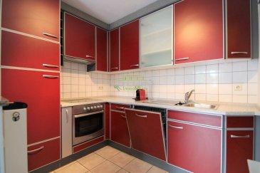 *** LOUE ***  Concilium Immobilière,  Vous propose à la location un appartement à Sanem, situation très calme et se composant comme suit:  - Hall d\'entrée - Cuisine complètement équipée ouverte sur living - Une chambre à coucher - Débarras - Salle de bains - Grande terrasse  Pour finir, ce bien est complété par une cave avec emplacement intèrieur privative et une buanderie commune.  Caution : 2.200 euros (2 mois) 1 mois de loyer + charges d\'avance : 2.200 euros +150 euros de charges.  1 mois de loyer frais d\'agence + TVA en vigueur  : 1287 euros TTC 17% TVA  Pour le dossier:   Copie de votre carte d\'identité ou passeport, 3 dernières fiches de salaire ou un avis d\'imposition, un relevé d\'identité bancaire.    ***Nous recherchons en permanence pour la vente et pour la location, des appartements, maisons, terrains à bâtir etc. pour notre clientèle. N\'hésitez pas à nous contacter si vous avez un bien pour la vente ou la location.***  Estimations gratuites.  Pour l\'obtention de votre crédit, notre relation avec nos partenaires financiers vous permettra d\'avoir les meilleurs conditions, inclus dans nos services GRATUITS.  Ref agence : 141