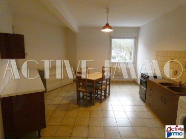 Appartement F2 de 81m² en rdc. PETIT PRIX<br/>LOGEMENT SPACIEUX en RDC<br/><br/>Sur la commune de Knutange, au rez de chaussée d\'une copropriété proche de toutes commodités, devenez propriétaire de cet appartement spacieux de 81m² comprenant :<br/><br/>Un sas d\'entrée, d\'une grande cuisine indépendante de prés de 21m² avec son cellier attenant, d\'un salon spacieux de plus de 25m², une chambre de 14,80m² et d\'une salle de bain ( baignoire et vasque) .<br/>Pour plus de confort, vous disposez d\'un wc séparé avec espace buanderie.<br/><br/>Enfin, vous bénéficierez également de 2 places de parking privatives, dont l\'une est constructible pour y accueillir un garage fermé.<br/><br/>Copropriété de 335 lots dont 70 lots d\'habitations<br/>70€ de charge de copropriété / mois comprenant : charges communes générales, charges entrée A, ascenseur, avance sur eau froide.<br/><br/>Double Vitrage PVC + Volet PVC roulant<br/>Chauffage individuel Gaz<br/><br/>Frais d\'agence inclus à la charge du vendeur.<br/>Marie PETITFRERE : 06 95 67 68 76<br/>Copropriété de 335 lots (Pas de procédure en cours).<br/>Charges annuelles : 840.00 euros.