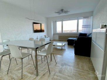 Bel appartement de +/-80m2 offrant beaucoup de luminosité, situé au 3ième étage d\'une résidence en parfait état à Howald.<br><br>Situé à 5 minutes à pied du futur Tram.<br><br>Se compose comme suit:<br><br>- Hall d\'entrée avec vestiaire<br>- Magnifique living de +/-30m2 donnant accès au balcon<br>- Cuisine équipée Individuelle avec fenêtre<br>- 2 chambres à coucher, (15 et 10.5 m2)<br>- Salle de douche et WC séparé de 2018<br><br>Dispose également d\'un garage Box, un parking extérieur et une cave.<br><br>Aucuns travaux à prévoir dans la copropriété, double vitrage, chauffage au gaz et façade, on été refait les 15 dernières années.<br><br>L\'appartement est disponible rapidement.<br><br>Pour toutes informations contactez-moi au 621.75 86 43.<br><br>Si vous souhaitez estimer votre bien n\'hésitez pas à nous contacter au 26.311.992 ou sur info@immocontact.lu