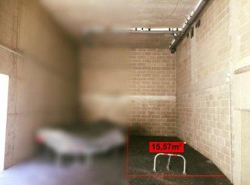 *** Réservé*** RE/MAX, spécialiste de l\'immobilier à Niederkorn vous propose à la location cet emplacement intérieur de 15,57 m2.  Emplacement couvert, situé dans un parking commun attenant à une résidence. Possibilité de loué un second emplacement similaire à côté.  Disponibilité immédiate.  Charges mensuelles : 3 ?/mois  Caution : 285 €  La commission d\'agence s\'élève à 1 mois de loyer + TVA payable par le locataire.  SIMOES Michael +352 691 680 986 michael.simoes@remax.lu Ref agence :5096271