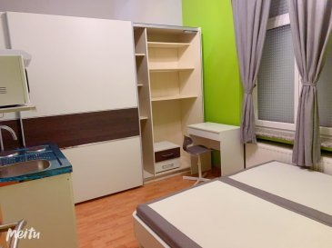 Studio on ground floor,  in center of Esch-sur-Alzette is avalablle  for rent. 11 minutes to Campus Belval. Renovated. Furnished. Charges are 100 EUR / month, all included (electricity, water, heating, internet, rubbish, etc.)