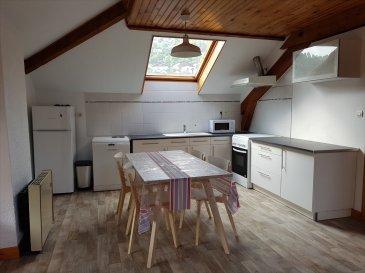 LA BRESSE CENTRE, BEL F2 meublé composé d\'une vaste entrée avec dégagement, une cuisine équipée ouverte sur séjour, une chambre et une salle d\'eau. CC gaz (compris dans les charges)