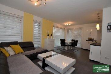 Tempocasa vous propose en exclusivité un magnifique appartement de 75m² construit en 2013, et donc encore sous garantie décennale, en rez de jardin avec des prestations de hautes qualités appartement comme résidence, et situé dans un quartier très calme de Cessange entouré de verdure et de parcs, idéal pour tous.<br><br>L\'appartement est composé comme suit:<br><br>-Hall d\'entrée avec placard et meuble sur mesure<br>- Un beau salon/séjour ouvert sur la cuisine équipée entouré de baies vitrées<br>- Un accès donnant sur la terrasse couverte et le jardin d\'une surface d\'environ 1 are<br>- 2 chambres d\'envion 12m²<br>- Une salle de bain avec WC et Douche/Baignoire<br><br>Equipements<br><br>- Volets électriques<br>- VMC double Flux<br>- Triple Vitrage<br>- Le plus grand emplacement de parking intérieur de la résidence  avec placard et étagères , possibilité de fermer avec porte de garage<br>- Une cave standard avec placard et étagères <br>- La résidence dispose d\'un parc privé  <br><br>Proche des écoles et de toutes les commodités cet appartement est à voir absolument !<br><br />Ref agence :DK106