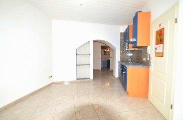 Isma BAUER RE/MAX Partners  Luxembourg, spécialiste de l'immobilier à Dudelange, vous propose cet appartement entièrement rénové dans une petite copropriété de 4 appartements.  Ce bien se compose de la manière suivante: -une cuisine ouverte sur un séjour. -une salle de douche avec WC. -un coin dressing. - une chambre de 23m² avec un accès sur une grande terrasse de 26m²  L'appartement est vendu avec un garage et une cave.   La résidence se situe dans un quartier calme de Dudelange, proche des commodités. cette copropriété  comporte un sous-sol avec  caves et autre locaux techniques , un rez-de-chaussée surélevé avec 2 appartements, puis un appartement sur chaque niveau.  l'appartement sera vendu toutes rénovations faites.  Possibilité d'acquérir un jardin derrière.  Idéal pour une 1ere  acquisition ou investisseur (rentabilité 4.2%)  contacte Isma BAUER  +532 621 813 784 isma.bauer@remax.lu
