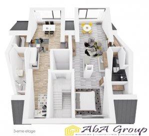 3ème ÉTAGE :  Studio (03.02) : 53,51m² ; cave, prix de € 530.000 TVA 3% ; € 586.613 TVA 17% Le studio se trouve dans cette résidence : https://www.athome.lu/vente/projet-neuf/residence/luxembourg/id-6356861.html  LES AUTRES APPARTEMENTS : REZ-DE-CHAUSSÉE : Appartement (00.01) 1 ch. 64,56m² ; jardin privatif de 55m² et cave Prix € 685.000 TVA 3% ; prix € 758.642 TVA 17%  Appartement (00.02) 1 ch. 63,21m² ; jardin privatif de 65m², terrasse de 6,68 m² et cave Prix € 702.000 TVA 3% ; prix € 777.442 TVA 17%   1er ÉTAGE : Appartement (01.01) 1 ch. 59,30m² ; terrasse de 6,04 m² et cave Prix € 630.000,00 TVA 3% ; prix € 696.880 TVA 17% Appartement (01.02) 1 ch. 57,44m² ; terrasse de 5,98 m² et cave Prix € 610.000,00 TVA 3% ; prix € 674.834 TVA 17%   2ème ÉTAGE : Appartement (02.01) 1 ch. 59,31m² ; balcon de 5,95 m² et cave Prix € 650.000 TVA 3% ; prix € 719.812 TVA 17% Appartement (02.02) 1 ch. 57,44m² ; balcon 5,98 m² et cave Prix € 640.000 TVA 3% ; prix € 708.557 TVA 17%   3ème ÉTAGE : Studio (03.01) : 61,51m² ; cave, prix de € 595.000 TVA 3% ; € 658.141 TVA 17% Studio (03.02) : 53,51m² ; cave, prix de € 530.000 TVA 3% ; € 586.613 TVA 17% Les prestations sont de haute gamme. Maison passive et la classe « A ».   Honoraires d'agence sont A LA CHARGE DU VENDEUR !
