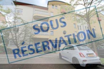 ***SOUS RESERVATION*** ''active relocation luxembourg'' vous propose un superbe appartement meublé et équipé avec 2 chambres.  Situé au 4ème étage ce bien comprend un living avec accès balcon, une spacieuse cuisine équipée, 2 chambres, 1 salle de douche avec WC,  1 WC séparé, 1 débarras avec machine à laver,   Au sous-sol: 1 emplacement de parking intérieur et une cave.  Supermarché