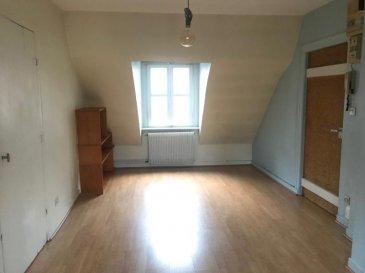 METZ .  Rue de la Haye, idéalement situé à proximité de la fac, des transports et commodités. Bel appartement F2 au 3ème et dernier étage de 32.79m2. Il se compose d\'un séjour, d\'une cuisine, d\'une chambre et d\'une salle de bains. A VOIR ! LOYER : 365EUR + 60EUR (eau, életricité et entretien des communs, TOM, entretien chaudière) <br> AGENCE VENNER IMMOBILIER <br> 03 87 63 60 09
