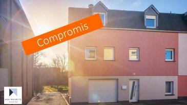 ***sous compromis***sous compromis***sous compromis*** Située à Beringen, dans la commune de Mersch, au 31, rue d'Ettelbruck cette maison libre de 3 côtés a été entièrement rénovée entre 2000-2010. Elle dispose d'une surface habitable de ± 190 m² pour une surface totale de ± 230 m² et de 8a 90ca du jardin.  Elle se compose comme suit :   Au rez-de-chaussée, le hall d'entrée de ± 5 m² avec un débarras/dressing de ± 6 m² et un couloir qui conduit d'un côté au garage de ± 33 m² et de l'autre côté au studio qui comprend un salon avec sa cuisine ouverte de ± 18 m², une chambre en enfilade de ± 12 m² et une salle de douche de ± 3 m². Cette pièce permet l'accès au jardin avec sa terrasse de ± 40 m².  Le 1er étage comprend un salon de ± 34 m² avec un poêle à bois et une sortie sur un balcon de ± 3 m², une cuisine séparée de ± 14 m², une salle de douche de ± 5 m² et une chambre de ± 15 m².  Un escalier en bois mène au deuxième étage desservant trois chambres de ± 13, 14 et 20 m², une salle de bain de ± 13 m² avec baignoire, douche italienne, lavabo double vasque, wc et bidet.  Un terrain non constructible de 14a 53ca, situé dans la même rue, est vendu avec la maison.   Détails complémentaires :  •Maison idéale pour une famille ; •Situation très calme ; •Chaudière au mazout, mais raccordement au gaz dans la maison ; •Jardin sans vis-à-vis ; •Orientation sud ;  •Cadre verdoyant ; •Gare de Mersch à 10 min à pied ; •Commerces (Cactus de Mersch), écoles, crèches à proximité ; •Accès autoroutier à proximité.  Agent responsable : Katia Gravière au 661 33 29 82 ou katia@vanmaurits.lu