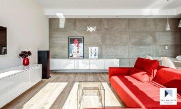 Un appartement lumineux et luxurieux de ± 67 m², au 3ème étage d'une petite résidence, avec ascenseur, bien tenue, comprenant 9 unités, localisé dans le quartier de Hollerich, proche de nombreux restaurants, bars et commerces (comme le nouveau Centre Commercial Auchan) et proche des arrêts de bus.  Conçu par un architecte d'intérieur, grand standard et aux finitions haut de gamme, avec des décorations de béton brut sur certains murs, éclairage d'ambiance, câbles TV / hifi encastrés et chauffage intégré dans le sol par des convecteurs.  L'appartement style