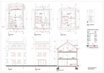 Maison au centre de Grevenmacher à rénover ou à reconstruire avec autorisation de bâtir. La maison se trouve dans la rue des Bateliers, 20. Idéale pour les promoteurs.   Possibilité d'acheter un parking interieur pour 20.000€