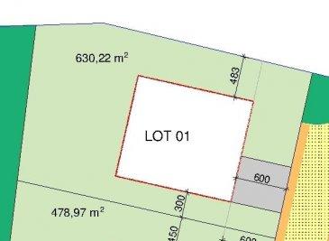 Terrain avec  contrat de construction pour une maison sur le terrain  lot 1  Pour votre documentation gratuite veuillez me contacter par téléphone au 621 300 300  Ref agence :WEICHERDANGE LOT 1