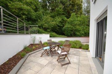 Bel appartement de 53m² situé au RDC d'une résidence calme composé d'un séjour donnant accés à une belle terrasse, d'une cuisine équipée ouverte, d'une chambre spacieuse avec salle de bain attenante et d'un WC séparé. Vous disposerez également un emplacement intérieur et d'une cave privative.  Le quartier de Mühlenbach se situe à moins de 10 min du centre ville de Luxembourg et à moins de 15 min du quartier des affaires du Kirchberg.