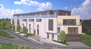 Appartement B1 Appartement d'une surface de +ou- 95m2 situé au rez-de-Chaussée avec une terrasse de +ou- 6.55m2 et un jardin privatif de +ou- 100m2.   L'appartement dispose de deux chambres à coucher de 15.02m2 et 10.93m2, une salle de bains, un dressing, un Wc séparé et une cave privative.  Vous pourrez acquérir un emplacement intérieur au prix de 30.000,00€ ou un emplacement extérieur au prix de 15.000,00€ à 3% de TVA inclus.  Le projet comprend 6 nouvelles résidences à toitures plates de style contemporain dans une rue calme et sans issue dans la ville de Tétange.   Les 6 résidences regroupent 16 logements en tout.  4 Résidences ont chacune  2 appartements et 1 penthouse sur deux niveaux par bâtiment, le sous-sol est commun aux 4 bâtiments. Les 4 résidences comprennent 24 emplacements intérieurs et 2 emplacements extérieurs.   Les 2 autres bâtiments ont 2 duplex chacun avec un sous-sol séparé pour les deux bâtiments qui disposent de 4 caves et de 4 emplacements intérieurs doubles. Les 4 duplex auront des entrées complètement séparés comme dans une maison.  Chaque appartement dispose d'une cave privé.   Les appartements sont spacieux et lumineux disposant de 2 à 3 chambres à coucher avec une voir 2 terrasses par appartements.  Les appartements situés au rez - de - chaussée dispose d'un jardin privé.  Chaque détail a été ici pensé afin de proposer aux futurs occupants un confort de vie optimal.  Des équipements et matériaux haut de gamme sélectionnés avec le plus grand soin, des espaces extérieurs comme des terrasses et jardins privés pour les appartements au rez-de-chaussée et des terrasses avec une vue dégagée pour les biens aux étages supérieurs .