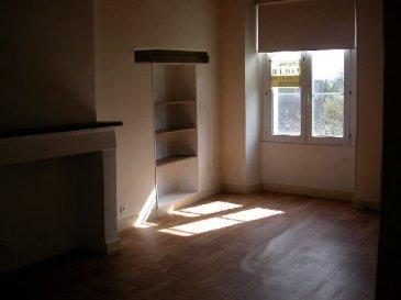 CENTRE BOURG. Appartement de 45 m2 au 1er étage face : cuisine/séjour avec placards de rangement, une chambre, salle d\'eau avec wc, buanderie dans les dépendances attenantes. Chauffage : gaz citerne.