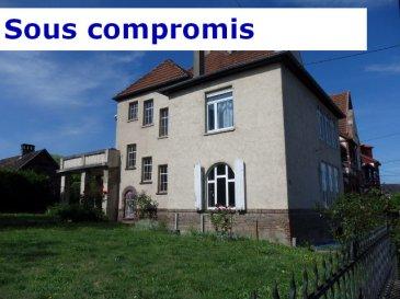 PRODUIT D'EXCEPTION  NOUS VENDONS :  A ROMBAS (Moselle), rue du Maréchal Joffre un appartement duplex de type F6 dans une grande maison Bourgeoise.  Il offre sur une surface habitable de 180 m2 (169,72 m2 Loi Carrez) ; A l'étage : Une grande cuisine de 16 m2, Un salon de 24 m2, hauteur sous plafond de 3,3 m ; Un séjour de 18,91 m2 ; Deux chambres de 17,6 m2 et 20,80 m2 Un jardin d'hiver de 8 m2. Une salle de bains et WC séparé. En duplex : Un grand bureau de 20 m2. Une chambre de 17 m2. ****Balcon de 21 m2 orienté sud. ****Chauffage et eau chaude par chaudière au gaz de ville. ****Fenêtres PVC double vitrage OB. **** Grand terrain à l'arrière et sur le côté, avec la possibilité d'y construire un garage. **** A l'arrière, une grande dépendance avec fenêtres PVC, aménageable en cuisine d'été et salon.  Des travaux de zinguerie de la cheminée et de la terrasse vont être réalisés prochainement.  Nombre de lots d'habitation de la copropriété : 2  Pas de procédure en cours.  DISPONIBLE DE SUITE  CONTACT : Jean-Luc Meyer Agent commercial au : 07 60 13 78 96  Ou l'agence au : 03 87 16 12 24  Les frais d'agence sont à la charge de l'acquéreur.