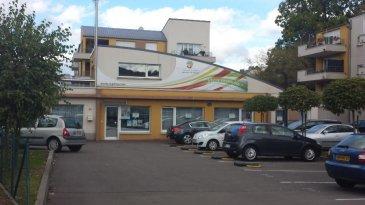 Immeuble de bureaux pour une surface de 230 m² et les espaces extérieurs afférents + huit places de parking dont 7 avec télécommande.  Situé en plein centre ville, commerces et frontière luxembourgeoise à proximité.