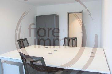 Nous avons le plaisir de vous proposer à la location des bureaux neufs meublés, avec cuisine - toilettes et salle de réunion.<br><br>Disponible immédiatement.<br><br>Très lumineux, il est situé proche de la Gare de Luxembourg, des axes routiers et de nombreuses commodités.<br><br>Plans sur simple demande.<br><br>Frais d\'agence à la charge de la partie Locataire : 1 mois de loyer + 17% TVA.<br><br>Pour plus de renseignements, veuillez contacter l\'agence.<br /><br />Wir freuen uns, Ihnen neue möblierte Büros mit Küche - Toilette und Tagungsraum zur Miete anzubieten.<br><br>Sofort verfügbar.<br><br>Es ist sehr hell, es liegt in der Nähe des Bahnhofs von Luxemburg, Straßen und viele Annehmlichkeiten.<br><br>Pläne auf Anfrage.<br><br>Agenturkosten zu Lasten des Mieterteils: 1 Monat Miete + 17% MwSt.<br><br>Für weitere Informationen wenden Sie sich bitte an die Agentur.<br><br /><br />We are pleased to offer you for rent new furnished offices, with kitchen - toilets and meeting room.<br><br>Available immediately.<br><br>Very bright, it is located close to Luxembourg train station, highways and many amenities.<br><br>Plans on request.<br><br>Agency fees payable by the Tenant: 1 month\'s rent + 17% VAT.<br><br>For more information, please contact the agency.