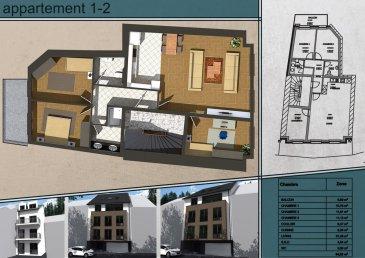 Appartement en vente d'un surface de 89.56m² se compose de 3 chambres à coucher, emplacement pour une voiture ainsi qu'une cave. Cette construction d'un style moderne est situé à Wiltz sur la rue du Pont. Livraison prévue 12 mois après signature de l'acte notarié La résidence se compose uniquement de 4 appartements de deux à trois chambres, avec emplacements intérieurs pour véhicule et cave privatives  1er étage:  89.56m²,3 chambres,            Prix: 357.493.50  avec 3% de TVA après accord du bureau de l'enregistrement pour l'application de la TVA super réduite.   Pour toute information supplémentaire, n'hésitez pas à nous contacter: Bureau: 28 77 80 57 GSM: 691 080 103 ou 691 860 584  Visitez nous en agence: 43 rue d'Anvers L-1130 Luxembourg