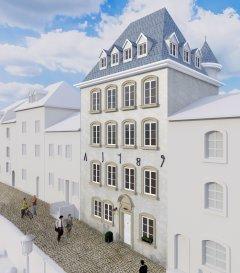 Immomod S.A. a le plaisir de vous proposer c'est magnifique appartement  à Luxembourg-Grund, avec une vue exceptionnel sur la ville et les casemates.  Le duplex se trouve au premier étage dans une résidence à 4 unités.  Il est accessible par un ascenseur et sera faite de HAUT-STANDING.  Livraison : juin 2019  Prix affiché avec la TVA de 3%.  N'hésitez pas à nous contacter pour les détails supplémentaires au 691 92 54 85 ou 27 99 09 53.