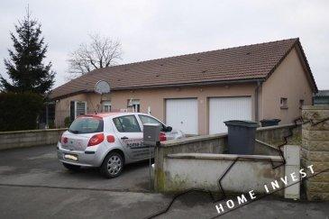 MORFONTAINE un village à 30 minutes de la frontière Luxembourgeois. Découvrez ce joli Bungalow plein pied, construit en 1999 sur un terrain de 8,30 ares. Il se compose comme suit: Hall d'entrée  Grand Living, séjour avec cuisine ouverte d'env. 51 m2 Toilette séparée Hall de nuit 3 chambres à coucher d'env. 13,80 m2, 13,90 m2 et une de 11,75 m2 Grande salle de bains avec baignoire, douche, toilette et vasque d'env. 12,70 m2 Une véranda d'env.17,30 m2 et une terrasse d'env. 20 m2. Un garage pour 2 voitures, une buanderie et une chaufferie. A l'extérieur 4 emplacements. Un jardin clos et arboré autour de la maison, une maison d'abri avec barbecue.  Pour plus de renseignement contactez l'agence Ref agence :HI-1361