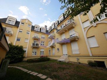 DISPONIBLE DE SUITE  New Keys vous propose à la vente ce spacieux appartement d'une surface d'environ 115m2 au 2ième étage avec ascenseur d'une résidence bien entretenue à Differdange.  Spacieux et bien agencé, le bien se présente comme suit:  - Hall d'entrée, - Living avec accès à un 1er balcon - Cuisine équipée et séparée - Grand débarras / buanderie - Toilettes séparés - Salle de douche avec toilettes - 2 chambres à coucher dont une avec accès à un 2ième balcon  Pour compléter ce bien, vous profiterez d'un garage et d'une cave à titre privatif.  Proche de toutes les commodités.  N'hésitez pas à nous contacter au 352 691 216 830 ou par mail smarrocco@newkeys.lu pour plus d'informations et/ou une éventuelle visite.    COVID: Pour votre sécurité, nos visites sont effectuées avec des masques, des gants et limitées à 3 personnes par visite.  Les prix s'entendent frais d'agence inclus dans le prix et payable par le vendeur.  Nous recherchons en permanence pour la vente et pour la location, des appartements, maisons, terrains à bâtir pour notre clientèle déjà existante. N'hésitez pas à nous contacter si vous avez un bien pour la vente ou la location. Estimation gratuite.