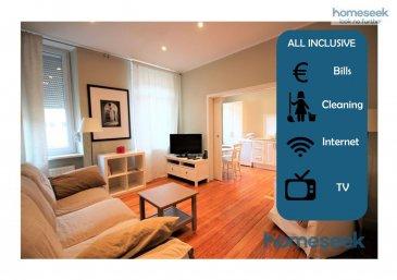 -- FR --  Homeseek Limpertsberg (contact +352 621 366 194 ou +352 691 262 005) a le plaisir de vous proposer en location ALL IN COURT TERME (à partir de 15 jours !) ce ravissant appartement traversant d?1 chambre, de +/-44m2, astucieusement configuré, cosy, meublé et équipé, au 1er étage d?une maison de ville au c?ur de Limpertsberg.  La location All IN comprend : toutes les charges d?eau, chauffage, gaz et électricité, le ménage hebdomadaire de l\'appartement avec changement du linge de lit et des serviettes de bain, la connexion rapide à Internet et l\'abonnement TV.  Situé à mi-hauteur dans l?avenue de la Faïencerie, toutes les commodités sont à portée de main (restaurants, épicerie, superettes, cinéma, ?), arrêt d?autobus au pied de la maison, parc Tony Neuman à quelques centaines de mètres. Station de Tram plus bas (8 min. à pieds).  Entrée dans le living, cuisine semi-ouverte tout équipée, puis accès à la chambre avec commode et armoire et à la salle de douche en suite, wc semi-séparé.  Canapé-lit confortable dans le living pour accueillir hôtes de passage.  Parquet, volets manuels aux fenêtres, lave-linge/sèche-linge dans l?appartement, TV, chauffage au gaz de ville. Pas d?ascenseur.  Disponibilité : mi-juillet 2020 Contrat courte durée : à partir de 15 jours Loyer + forfait charges mensuels : 2700€ Caution : 1 ou 2 mois de loyer (en fonction de la durée) Frais d?agence : 15% + TVA (de la durée de la location)  Plus d?info ou visite : appelez Fabienne Toussaint au +352 621 366 194 ou Patricia Bertino au +352 691 262 005 Réf : 4921928-HL-PB|FT   -- EN --  Homeseek Limpertsberg (contact +352 621 366 194 or +352 691 262 005) is delighted to offer you this ALL IN SHORT TERM (as from 15 days !) lovely 1BR flat, +/-44sqm, smartly laid out, fully furnished and equipped, on the 1st floor of a town house in the heart of Limpertsberg.  ALL IN includes : all utilities as water, heating, gas, electricity, weekly cleaning of the apartment with change of bed linen and bath