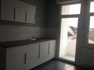 . Sarrebourg, proche gare, au 3ème et dernier étage : SPACIEUX APPARTEMENT en parfait état comprenant : entrée, cuisine meublée, 4 pièces, SDB-WC. 2 Balcons. Chauffage individuel gaz. Libre.