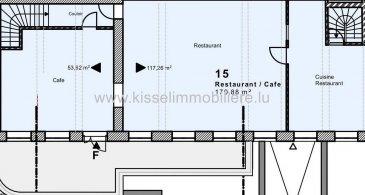 Kissel Immobilière vous propose à la Location<br><br>LOCAL DE COMMERCIAL 170 m²<br><br>- 6 Parking<br>- Cave 16 m²<br>- WC homme et dames 25 m²<br>- Vestiaire avec douche 32 m²<br>- Local poubelle<br>- Terrasse 60 m²<br><br>L\'agence KISSEL Immobilière vous propose des objets sélectionnés, pour répondre à la demande de notre clientèle.<br>Estimation gratuite de votre bien et cela sans engagement.