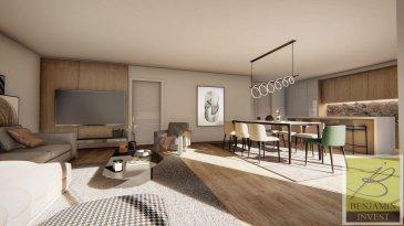 Appartement lumineux au 3éme étage, construction et finitions d'haut gamme et livre clé en main.  L'appartement est construit d'après nouvelles normes avec les nouvelles technologies comme chauffage au sol), Pompe à chaleur, panneau solaire, ventilation VMC double flux, vidéophone, triple vitrage avec raffstore électrique.  L'appartement comprenant:  Au 3ème étage : - Hall d'entrée - Ascenseur - accès privatif direct - Cuisine ouverte - Séjour avec accès vers la terrasse  - 2 Salles de bain - Cave - Débarras - Terrasse  - 2 chambres (1 avec dressing)  Prix affiché TVA 3% incluse - Possibilité d'acheter un Jardin (de  /- 90m2) - Possibilité d'acheter un double emplacement int. - Possibilité d'acheter un simple emplacement int.   La résidence est située à proximité de toutes commodités ( école, transports publics, centre ville ...).  Pour tout complément d'information, n'hésitez pas à nous contactez par téléphone au 28 77 88 22.  Nous sommes également disponibles pour organiser les visites le samedi !  Nous sommes, en permanence, à la recherche de nouveaux biens à vendre (des appartements, des maisons et des terrains à bâtir) pour nos clients acquéreurs.  N'hésitez pas à nous contacter si vous souhaitez vendre ou échanger votre bien, nous vous ferons une estimation gratuitement. Ref agence : 209