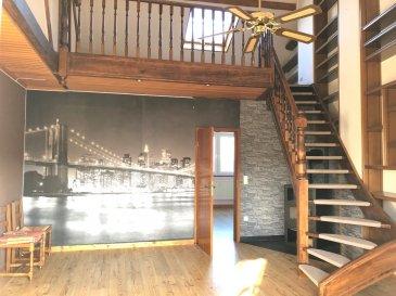 Duplex à vendre - Hall d'entrée, 3 chambre à coucher, une salle de douche,  - Living avec feu ouvert, balcon ensoleillé -Garage box fermé & un parking extérieur