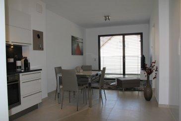 Nous avons le plaisir de vous proposer un un bel appartement en location, d\'une surface de 44m2, meublé et entièrement équipé, il se compose comme suit:<br><br>- Grand espace de jour lumineux avec balcon de 7 m2<br>- Salle de douche avec toilette<br>- Chambre avec balcon<br>- Cave<br>- Buanderie équipée (lave linge/sèche linge)<br>- Garage en option<br><br>Charges comprises (service de nettoyage, électricité, wifi, télévision...)<br><br>Frais d\'agence à la charge de la partie Locataire : 1 mois de loyer + 17% TVA. <br><br>Pour plus de renseignement veuillez contacter l\'agence.<br><br /><br />We are a pleasure to offer you a beautiful apartment for rent, with an area of 44m2, furnished and fully equipped, it consists as follows:<br><br>- Large bright day space with 7 m2 balcony<br>- Shower room with toilet<br>- Room with balcony<br>- Cave<br>- Equipped laundry (laundry/dryer)<br>- Optional garage<br><br>Charges included (cleaning service, electricity, wifi, television...)<br><br>Agency fees payable by the Tenant : 1 month\'s rent + 17% VTA.<br><br>For more information please contact the agency.<br>