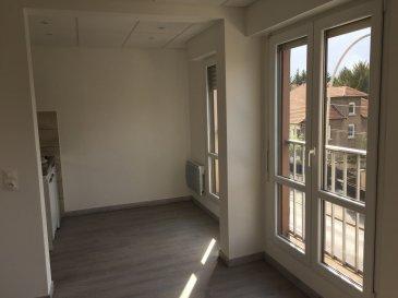 Bel appartement T1 comprenant pièce principale servant de chambre et de séjour, coin-cuisine équipé, salle d'eau avec WC. Dans résidence avec ascenseur, en centre ville.