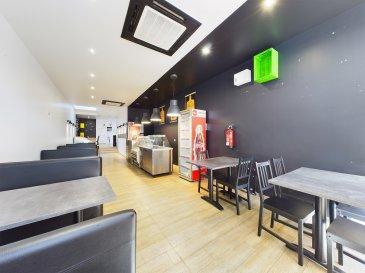 Pour tout renseignement contacter Bardia Allami : - 621150966 - bardia.allami@remax.lu  RE/MAX SELECT, spécialiste de l'immobilier à Luxembourg-gare vous propose à la vente un très beau restaurant rénové et très bien placé.  A côté de la Place de Paris, ce restaurant d'environ 100 m2 est sur une rue passante avec un fort potentiel qui peut accueillir facilement 50 personnes (équipement pour un service de 50 personnes inclus dans le prix), plus espace terrasse inclus pour 8 personnes. Ce local possède une grande cuisine avec une hotte industrielle ainsi que frigo boissons. Ce local possède aussi une cave de 22 m2 et salle de WC homme et femme. Le local a un loyer de 6300 €/mois avec charges et TVA inclus.  Vous avez besoin d'informations supplémentaires, alors merci de nous contacter.  Commission à la charge de la partie venderesse.