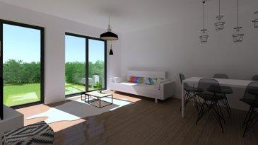 Fis Immobilière vous présente un appartement duplex d'une surface habitable de 51.35m2. L'accès à celui-ci se fait par une entrée principale séparée, un hall d'entrée avec un Wc séparé, un living, une chambre à coucher de et une salle de douche. L'appartement comprend un grand jardin privatif.  Idéalement située, à seulement 5km du Centre ville de Luxembourg, la construction sera en classe « AB » avec des panneaux solaires, des fenêtres triples vitrage, chauffage au sol et une ventilation mécanique.   Les prix affichés sont à 3% de TVA incluse.   Garantie d'achèvement / Assurance biennale et décennale  Pour tout renseignement veuillez nous contacter au +352 621 278 925