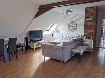 Appartement  2 chambres. Bel appartement lumineux de 105 m2 au sol et 85 m2 habitable comprenant:<br/>2 chambres, cuisine ouverte équipée sur le séjour, salle de douche.<br/>Petite co-propriété charges faibles, environ 90 €.<br/>Possibilité de louer un garage à proximité.<br/><br/>Copropriété de 6 lots (Pas de procédure en cours).<br/>Charges annuelles : 1200.00 euros.