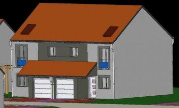 A Piedmont (Mont-Saint-Martin), dans un environnement calme, Nouveau lotissement, proche commodités, Maison jumelée, 1 garage 1 voiture, 2 places de parking,  RDC: entrée, cuisine ouverte sur séjour (37.40m²), w-c (1.70m²), ETAGE:  3 chambres(10.10/12.5/13.5m²), SDB avec w-c (6.20m²),  palier (4m²),  sur 2.51 ares de terrain. Livraison prévue au 4èmeTrimestre 2022.